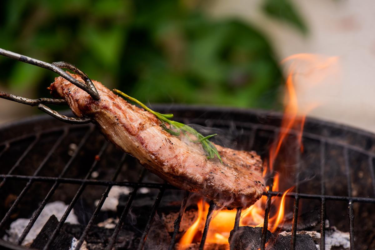 Steak on the braai